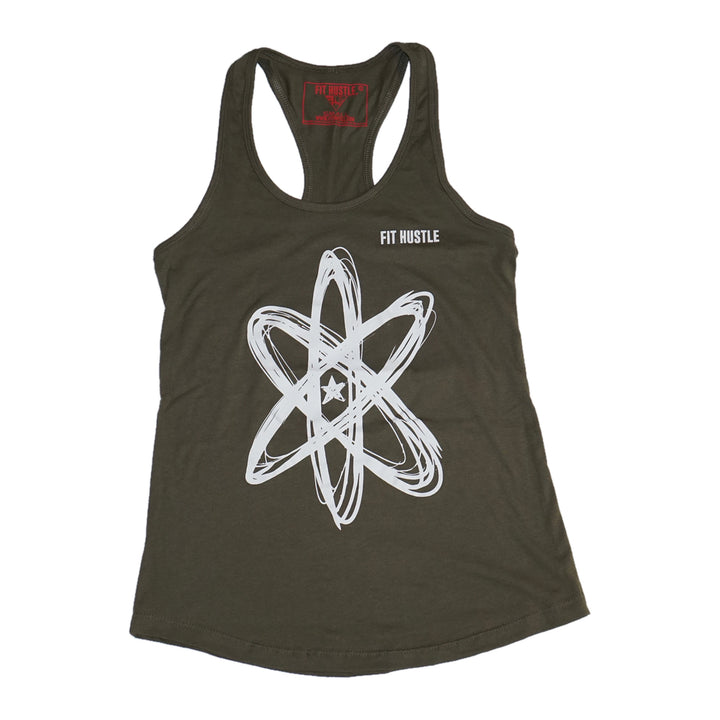 "Women's Military Racerback: ""Workout the Doubt"" - Lil Monstar Edition"