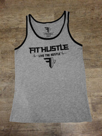 Athletic Heather (90/10)/Blk Pure Fit Hustle Nutritional Facts Tank Front