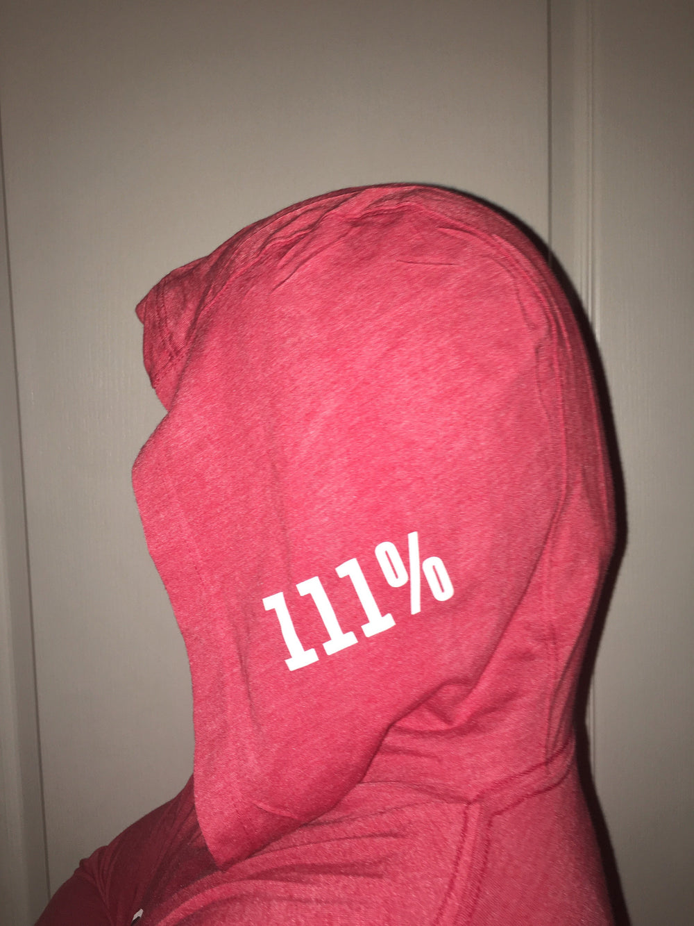 """HOODIE UP"" - Vintage Red Lightweight Pullover"