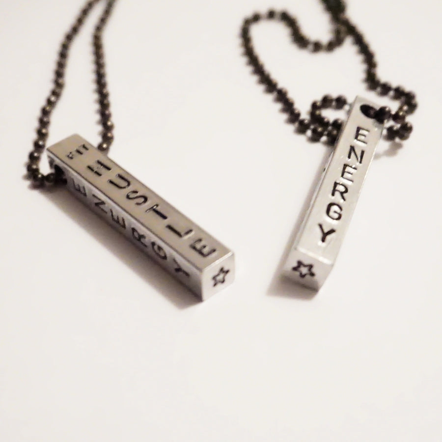 """The Core Values"" - Aluminum/Black - Motivation Chain Necklace"