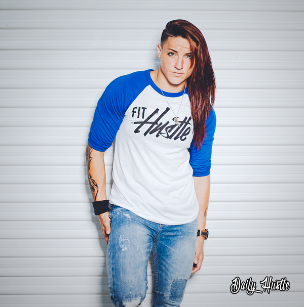 (White/True Blue) 3/4 Sleeve -