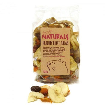 Dried fruit in a labelled clear plastic bag.