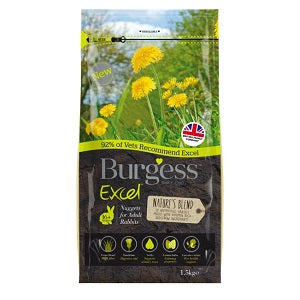 Burgess Excel Nuggets for Adult Rabbits bag 1.5kg.