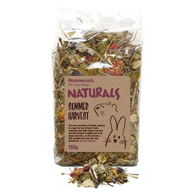 Dried herbs, fruits, vegetables and edible flowers in a labelled clear plastic bag,