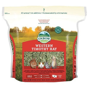 Bag of Oxbow Western Timothy Hay.