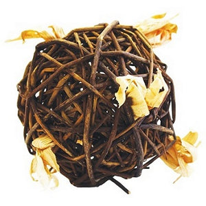 A ball of woven willow stems.
