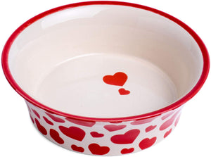 Ceramic Heart Print Bowl