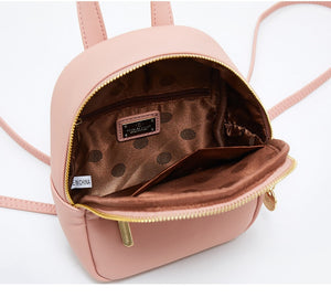 Women PU Leather Mini Backpack B300