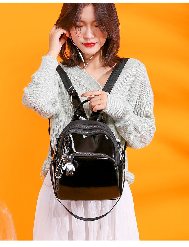 Fashion Silver Backpack B311