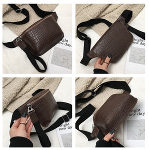Fashion Crocodile Pattern Waist Bag B210