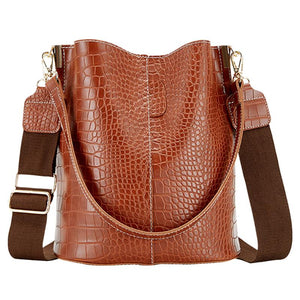 Retro Crocodile Pattern Shoulder Bag B123