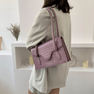 Fashion Crocodile Pattern Shoulder Bag B453
