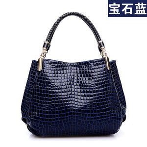High Quality Crocodile Pattern Shoulder Bag B191