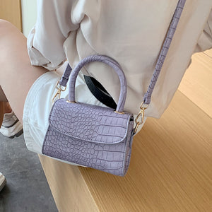 Crocodile Pattern Small Crossbody Bag B463