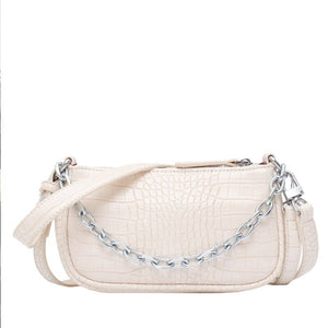 Fashion Crocodile Pattern Crossbody Bag B176