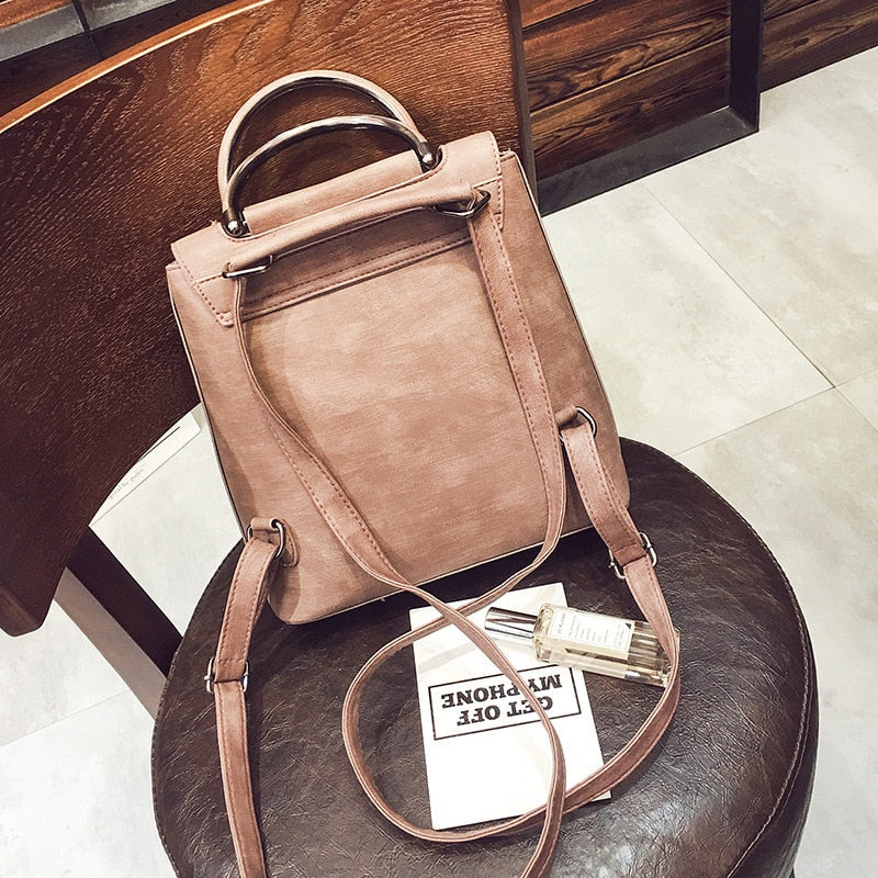 Fashion Women PU Leather Backpack B319
