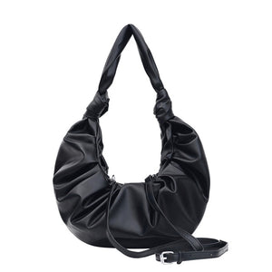 Fashion Pleated Soft Leather Shoulder Bag B101