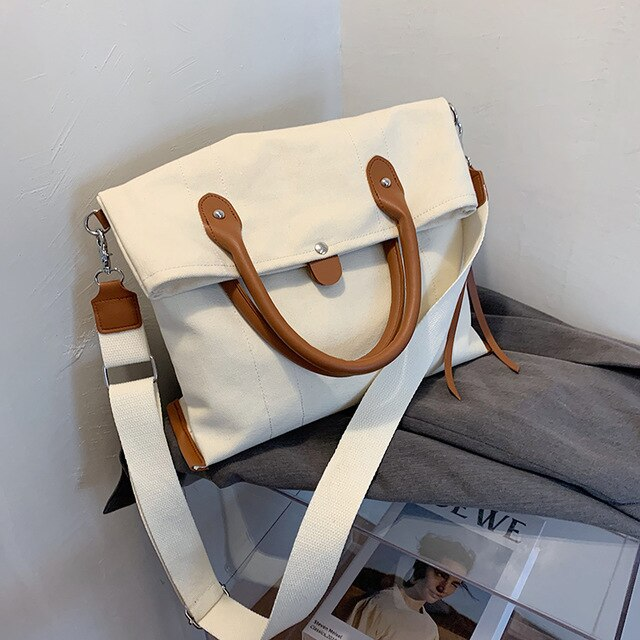 Elegant Casual Canvas Crossbody Bag B152