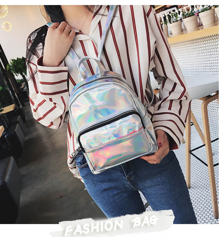 Holographic Silver Backpack B308