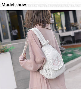Butterfly Embroidery Backpack B307