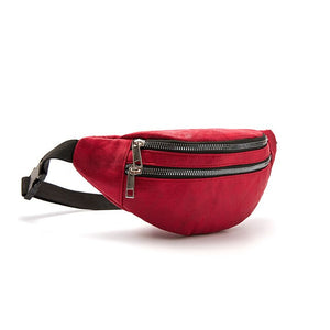 Fashion Double Zipper Waist Pack B201