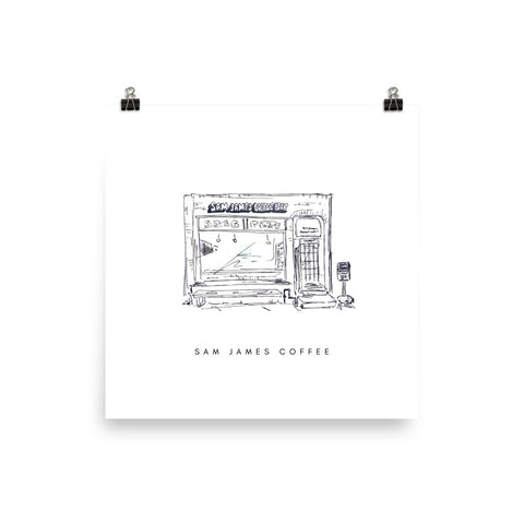 Sam James Coffee Print - White