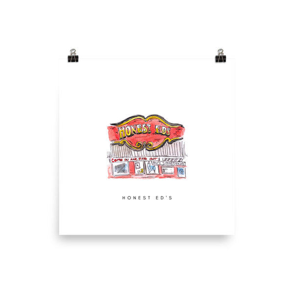 Honest Ed's Print - White