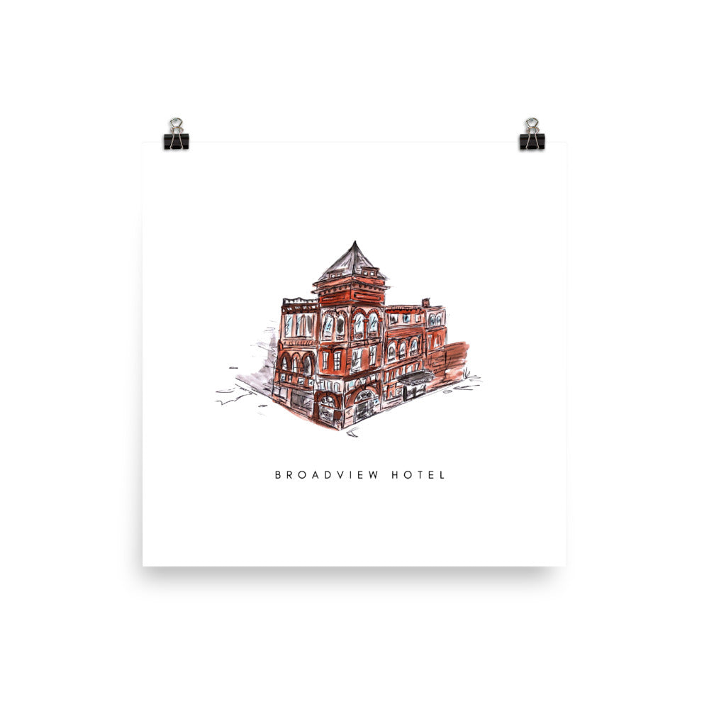 Broadview Hotel Print - White