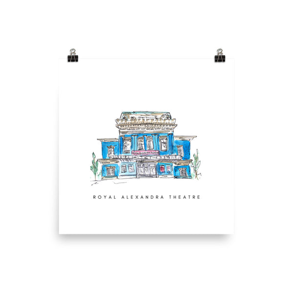 Royal Alexandra Theatre Print - White