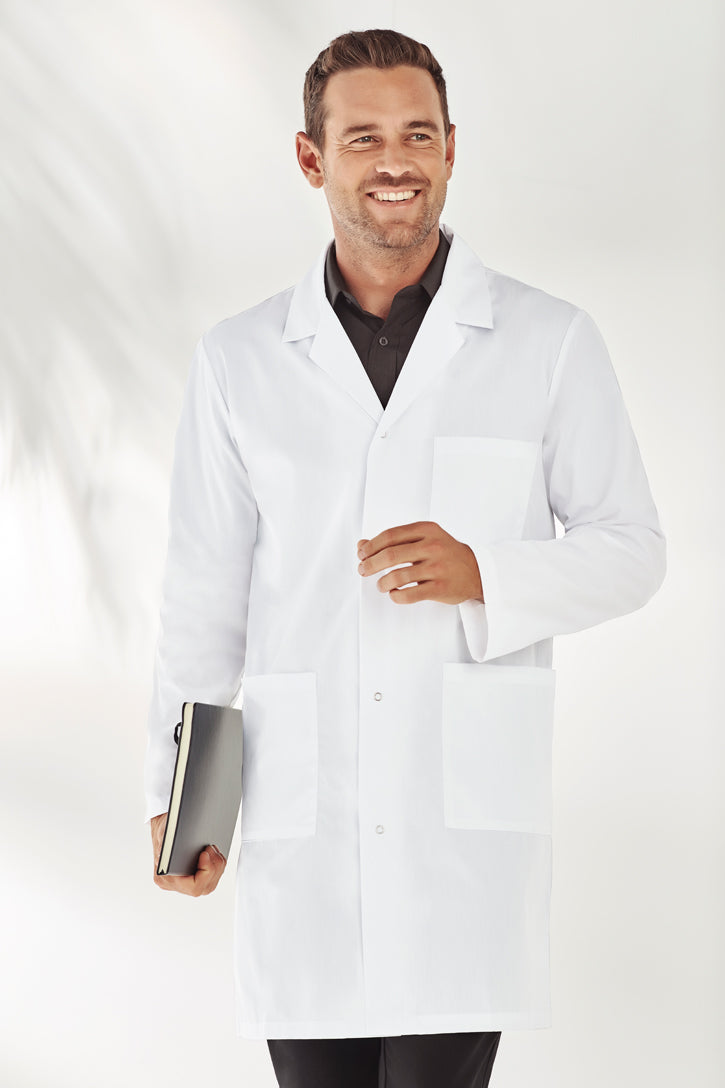 Man wearing Unisex Lab Coat