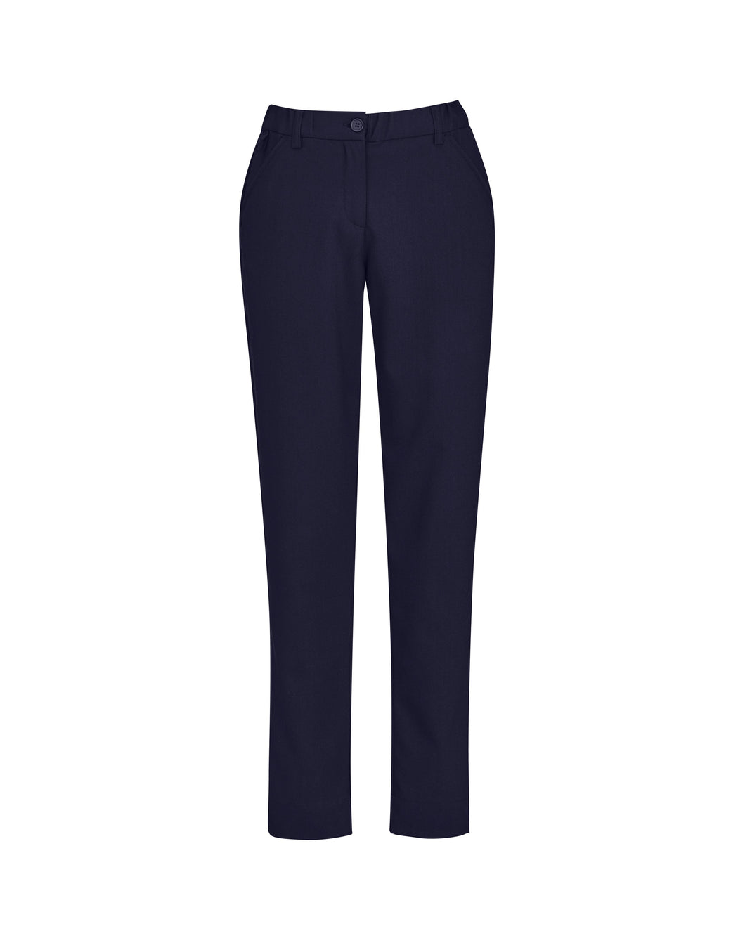 Women's Navy Comfort Waist Slim Leg Pants
