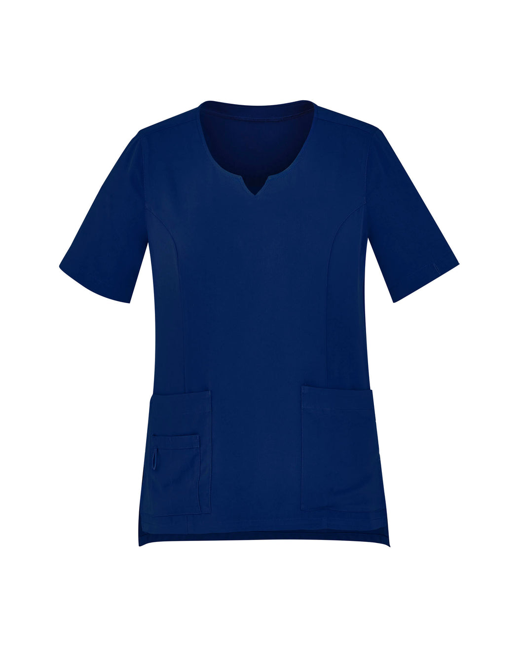 Women's Navy Tailored Fit Round Neck Scrubs Top