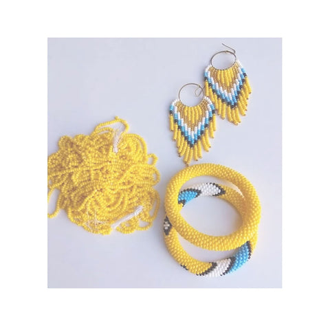Chihiyo Yellow Bracelet & Earrings Set