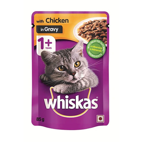 WHISKAS Chicken in Gravy 1+ years