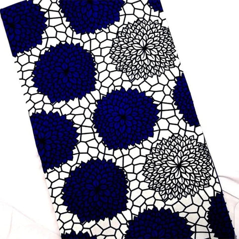 White & Blue Wax Material (6 Yards)