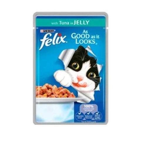 Felix As Good As It Looks Wet Cat Food Tuna 100g