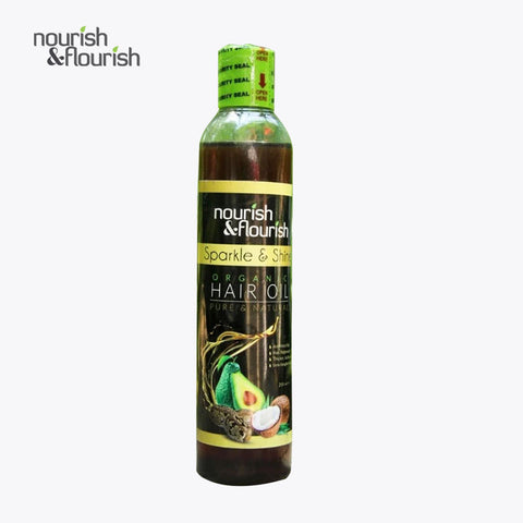 Nourish & Flourish Sparkle & Shine Organic Hair Oil 250ml