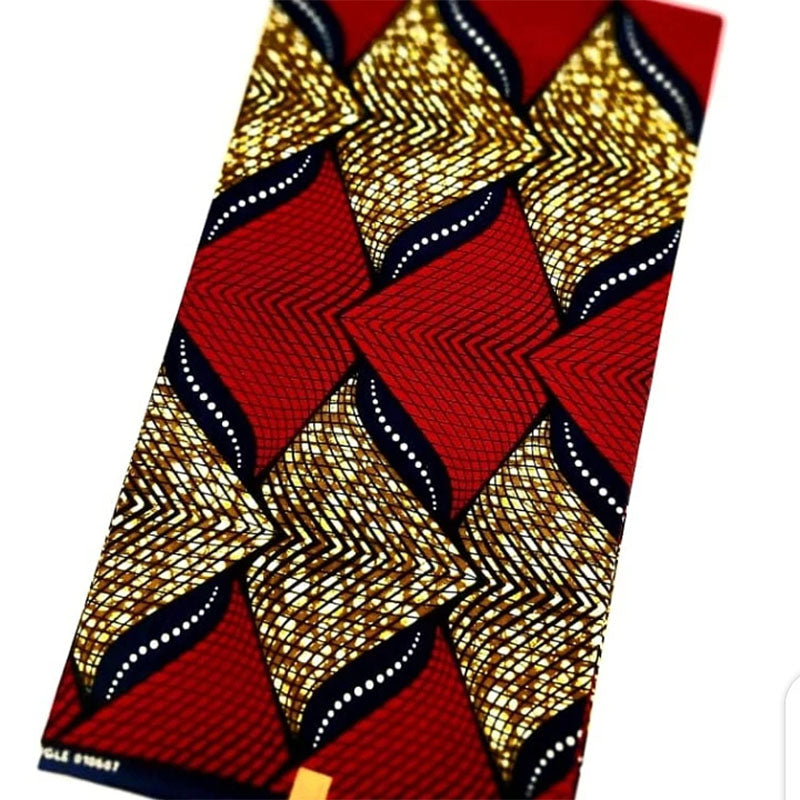 Red & Gold Wax Material (6 Yards)
