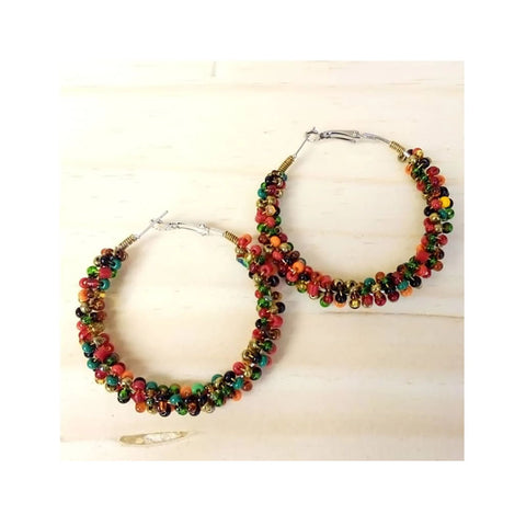 Chihiyo Multi Colour Hoop Earrings