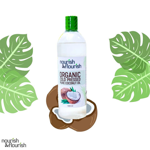 Nourish & Flourish Cold Pressed Coconut Oil 500ml