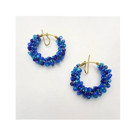 Chihiyo Blue Beaded Earrings