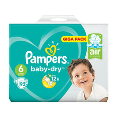 Pampers Baby-Dry Nappies Size 6, 92 Pack
