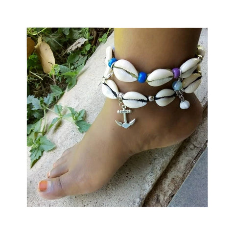 Chihiyo Beaded Shell Anklet