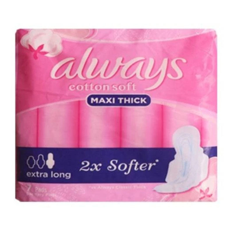 Sanitary Pads - ALWAYS Maxi Thick Cotton Soft Extra Long 7pads