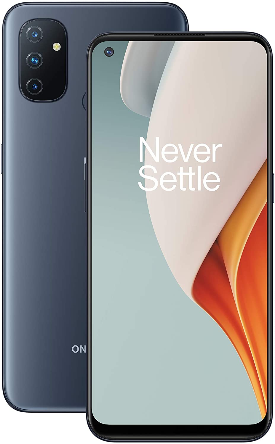 OnePlus N10 5G 6GB RAM and 128GB Storage UK SIM-Free Smartphone with Quad Camera, Dual SIM and Warp Charge 30T - Midnight Ice