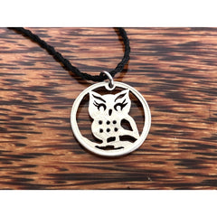 Baby Owl Cut Coin Necklace