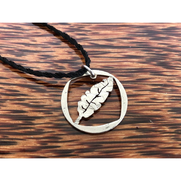 Banana Leaf Cut Coin Necklace