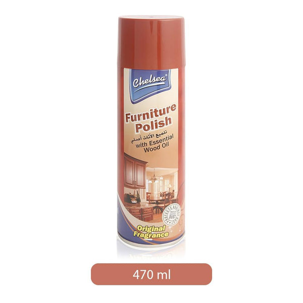 Polish - CHELSEA Furniture Polish with Essential Wood Oil 470ml