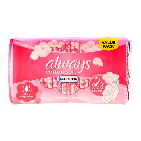 Sanitary Pads - ALWAYS Ultra Thin Cotton Soft Long 16pads