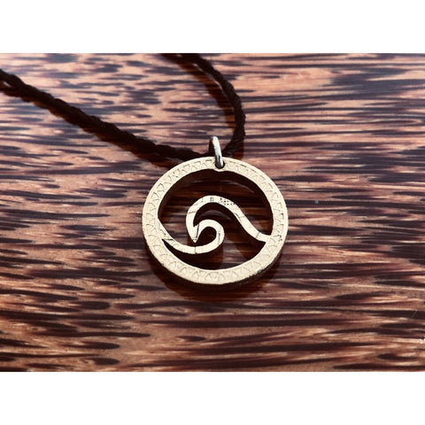 Ocean Wave Cut Coin Necklace
